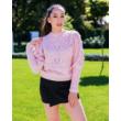 Kötött pulcsi -rózsaszín