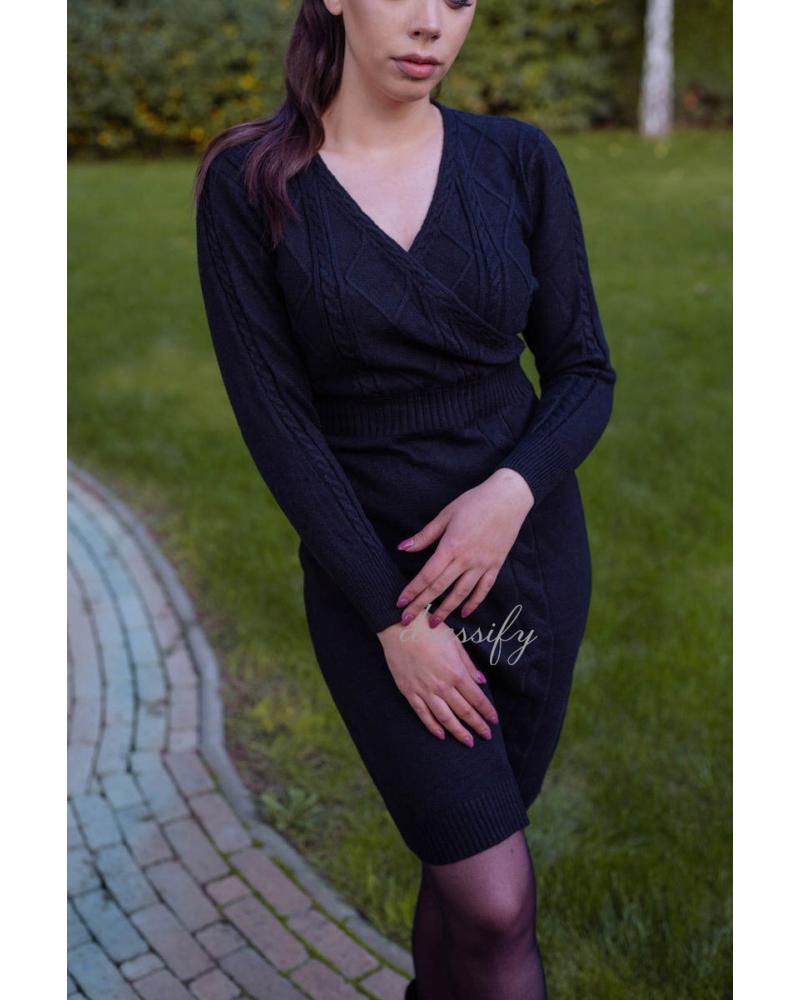 Kötött ruha - fekete