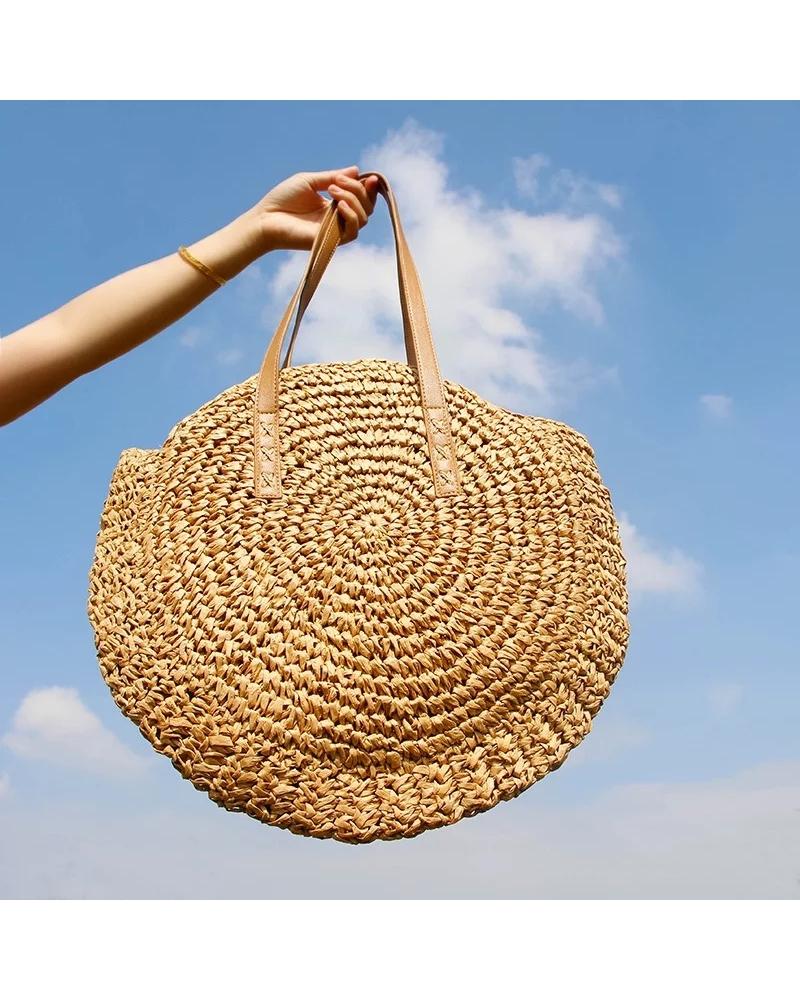 Bohém fonott táska