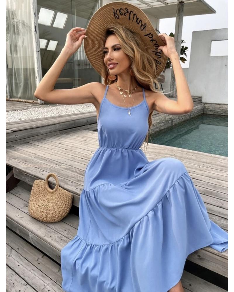 Kék midi ruha