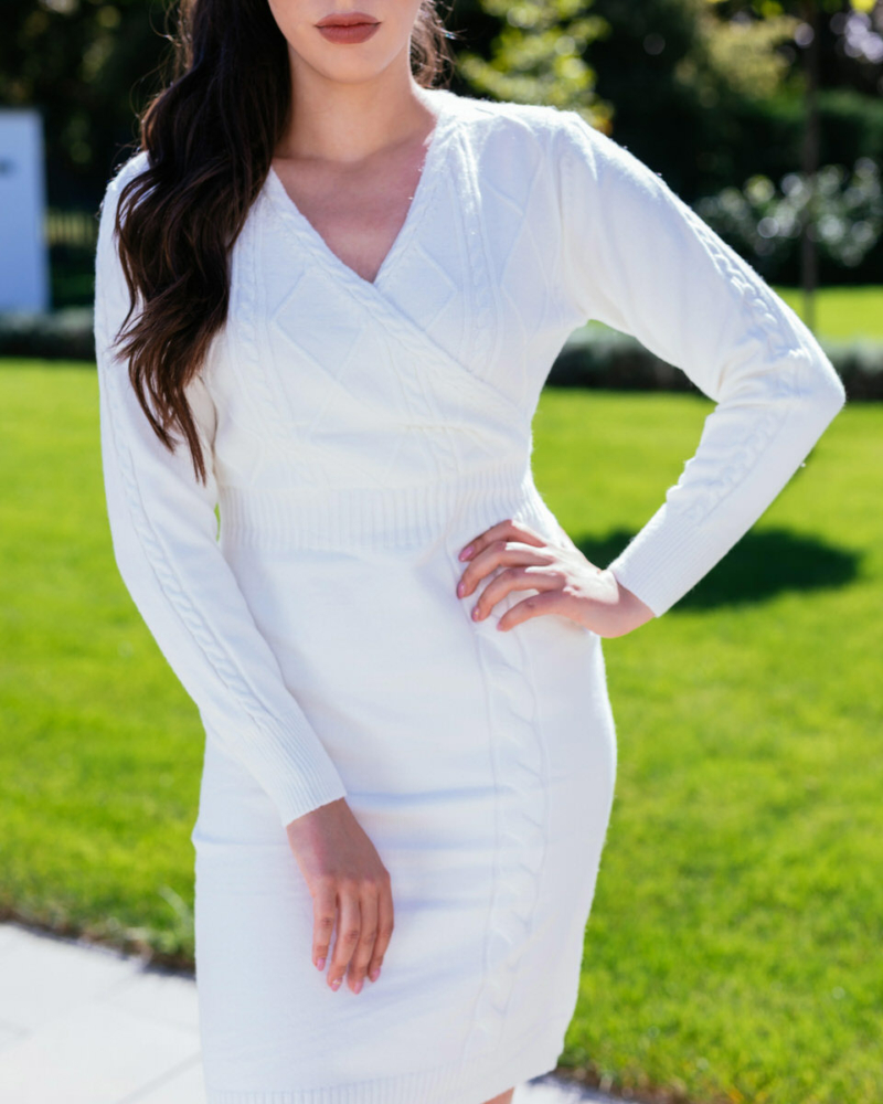 Kötött ruha - fehér