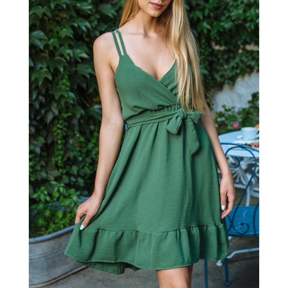 Ildy ruha - sötétzöld
