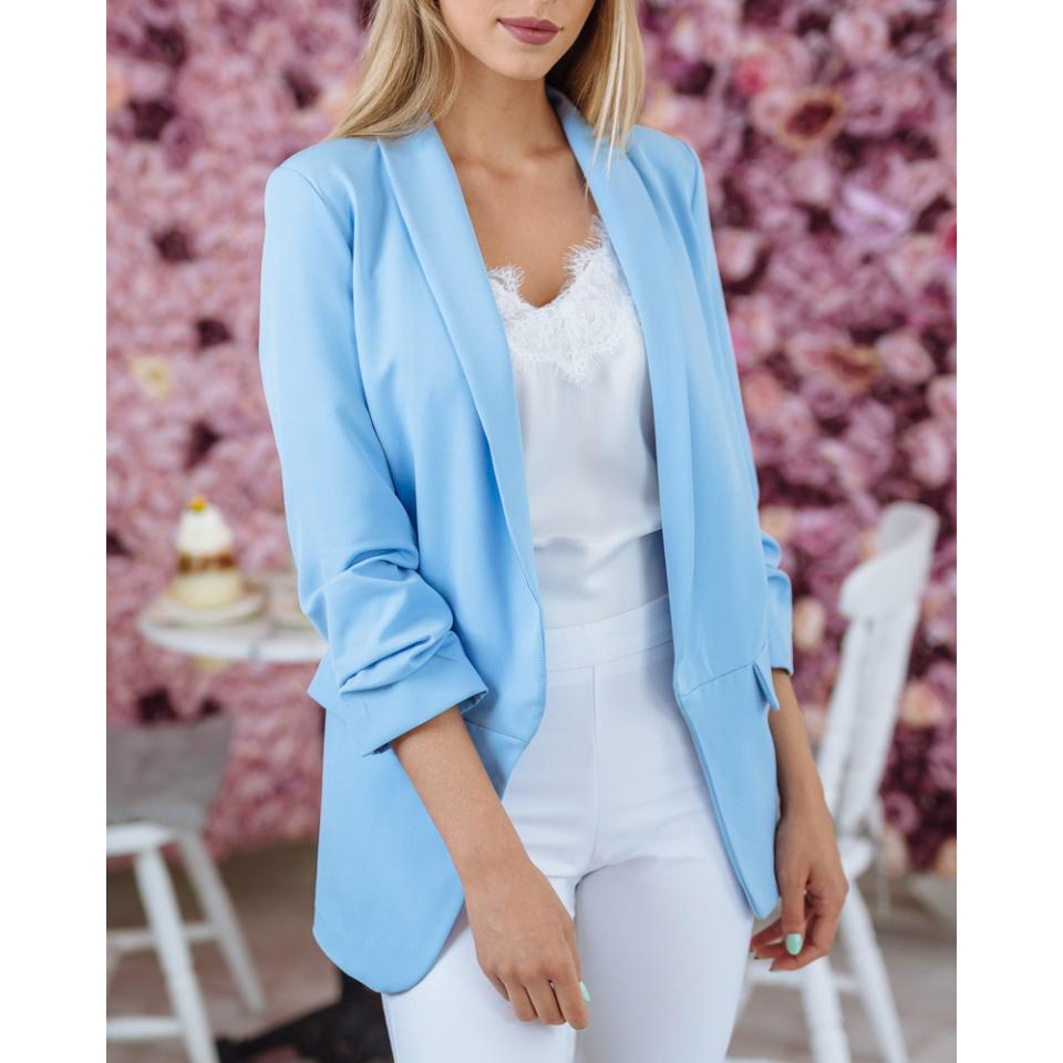 Blézer pasztell kék