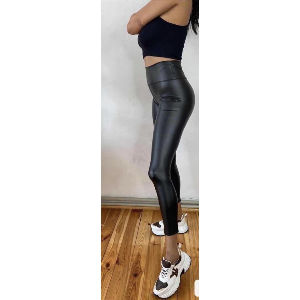 Bőr hatású leggings L/XL