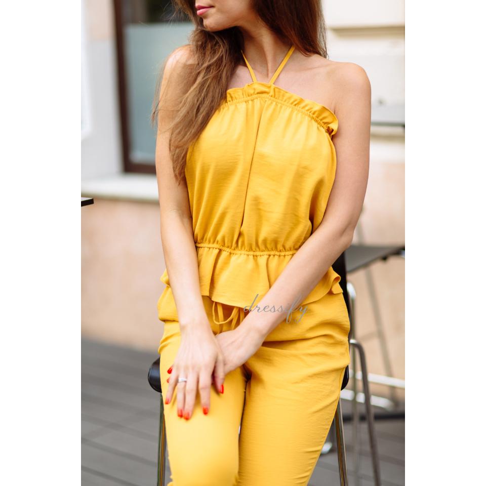 Chloe szett - sárga 38