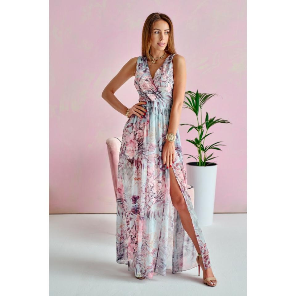 Virágos hosszú ruha