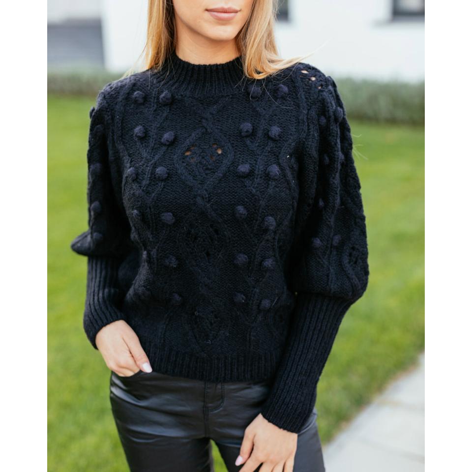 Kötött pulcsi - fekete